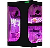 """VIPARSPECTRA 2-in-1 36""""x24""""x53"""" Mylar Hydroponic Grow Tent with Observation Window and Floor Tray for Indoor Plant Growing 3'x2'"""