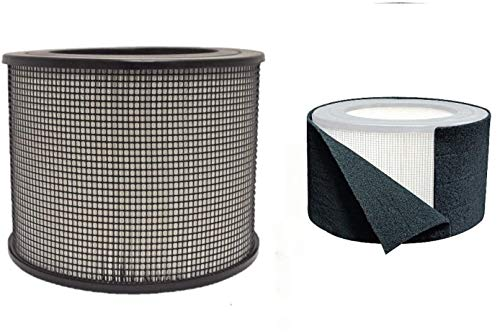BlueBird Filters Honeywell Replacement Filter Kit 50250-S - 24000 True HEPA Filter and Pre Cut Carbon Pre Filter Wraps (1 HEPA Filter + 1 Carbon Wrap)