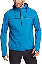 Eddie Bauer Men's High Route Grid Fleece 1/2-Zip Hoodie, Peak Blue Tall XXXL