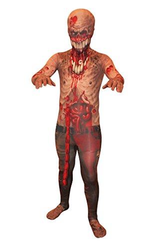 Explodierende Eingeweide Zombie Kinder Monster Morphsuit Faschingskostüm - size Large 4'1-4'6 (123cm-137cm)