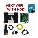 YULUBAIHUO Scanner V2020.05 ISTA Adatta per BMW ICOM A2 + B + C ICOM ICOM Next WiFi Strumento di diagnostica e Programmazione Fit per BMW Auto Supporto Multi-Lingua (Color : Next WiFi with HDD)