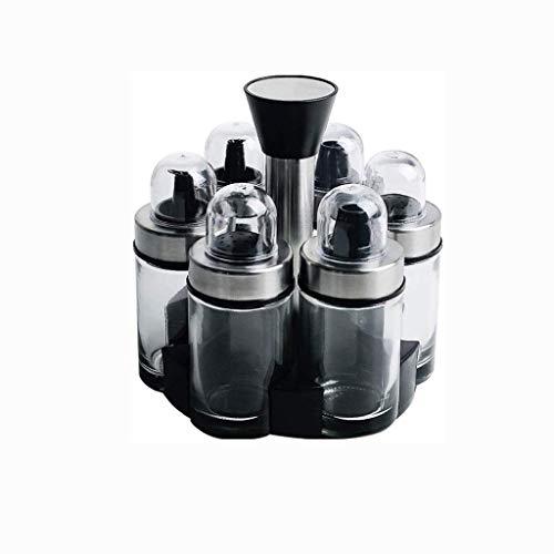 Manyao di alta qualità Nero condimento bottiglia, di vetro condimento di bottiglia può essere ruotato Cucina salsa di soia aceto bottiglia