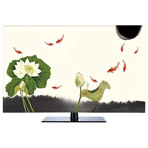 LIUDINGDING-zheyangwang Cubierta de TV Nuevo Chino A Prueba De Polvo Protege Los Televisores TV LCD Display (Color : Lotus, Size : 27inch)