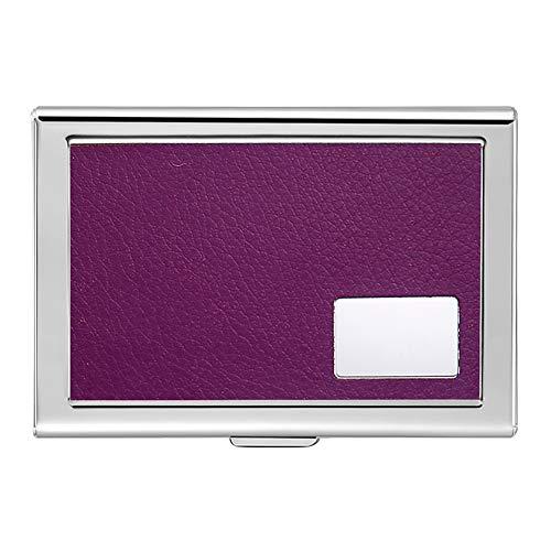 Honb Stainless Steel RFID Blocking Wallet for Men & Women - Slim Travel Wallet - Best Protection for Your Bank Debit, Id, ATM, Cards Against RFID Scanning Criminals Metal Business Card Case (Purple)