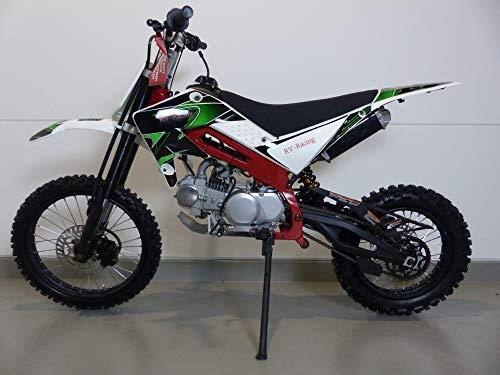 RV-Racing 125ccm Enduro Cross Dirtbike Pocket Pitbike 125cc 17/14 Zoll Grün