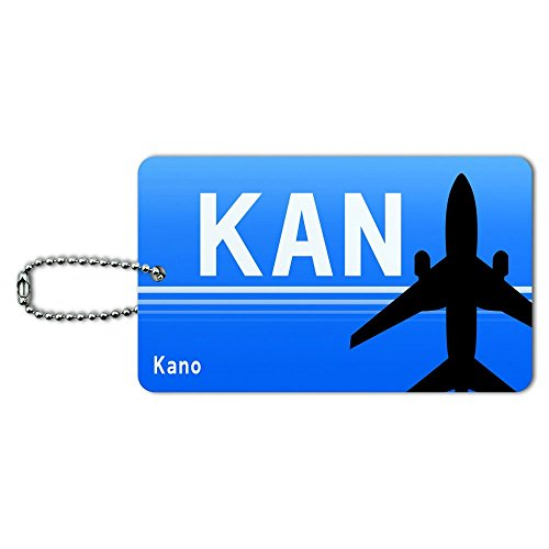 Kano Nigeria (KAN) Airport Code ID Tag Luggage Card Suitcase Carry-On