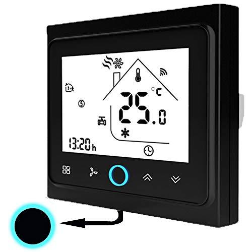 LHQ-HQ Onepeak Termostato Central Aire Acondicionado Termostato WiFi Termostato Alexa LCD Pantalla táctil Dos Control Tres Viento Velocidad Luz de fondo Blanco Controlador de Temperatura Digital