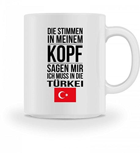 Galeriemode Lustige Tasse mit Spruch Ich muss in die Türkei Geschenk für Mama Papa Chef Kollegen
