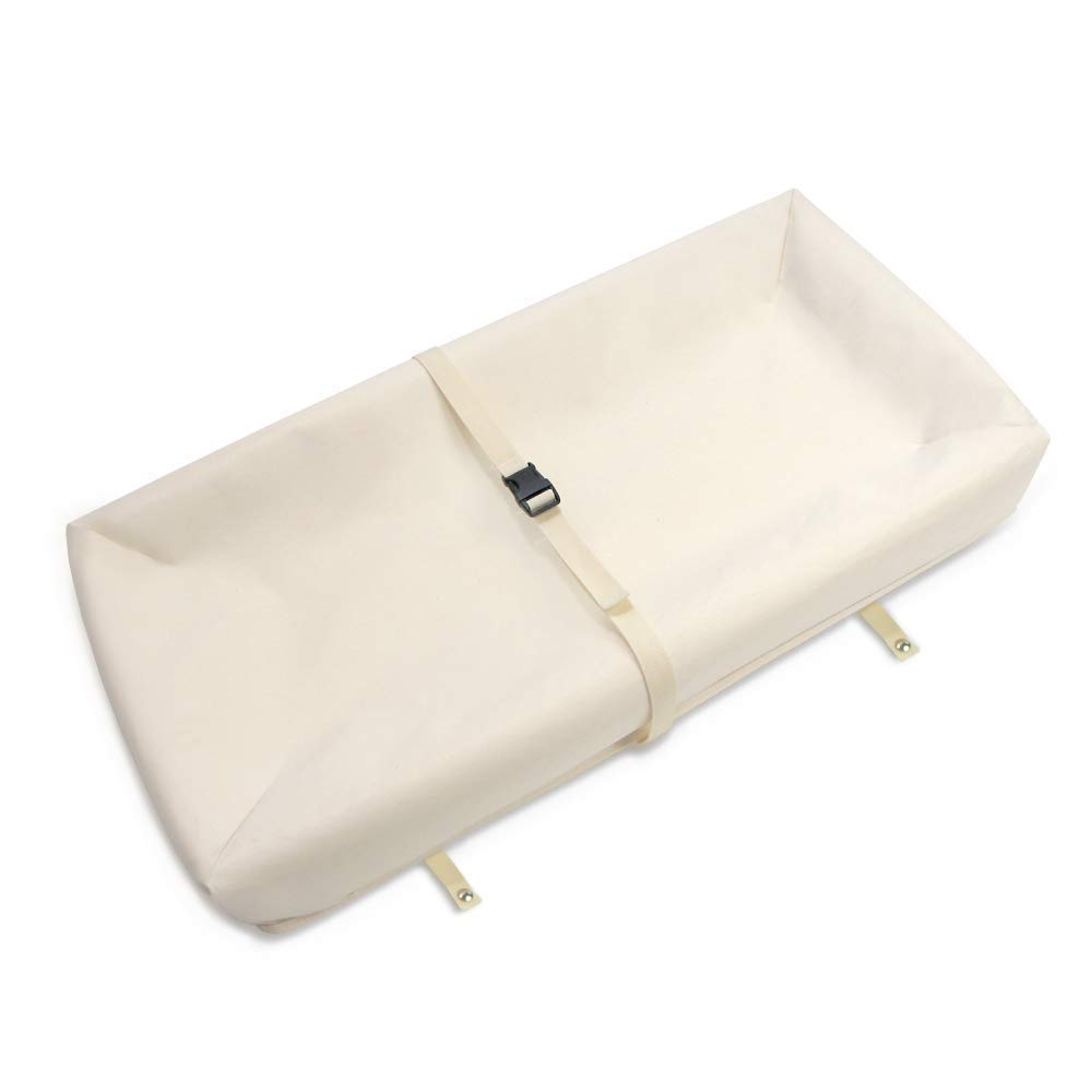 Naturepedic Organic Contoured Changing Pad for Changing Table, Changing Pad Cover Sold Separately, 4-Sided