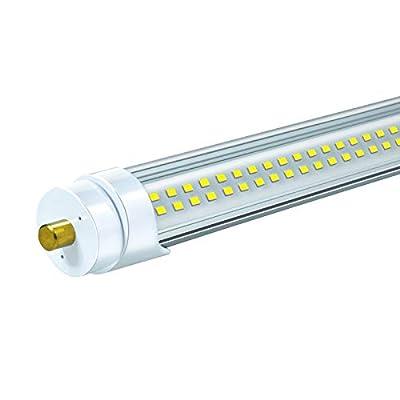 "ELEKICO 8FT Led Shop Light, 96"" 72 Watts FA8 T8 Single Pin LED Tube Light, 9000LM Super Bright, 5000K Cool White, 8 Foot Light T8 T10 T12 Fluorescent Fixture Replacement(1-Pack)"
