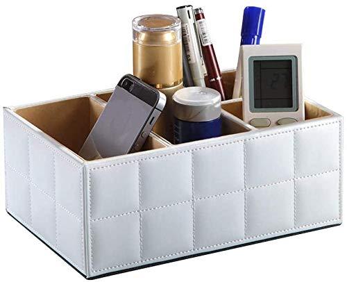Multifunktions-Aufbewahrungsbox aus PU-Leder/Desktop-Organizer/Organizer für Tissue-Box/Für Schreibtisch, Büromaterial, Waschtisch (B)