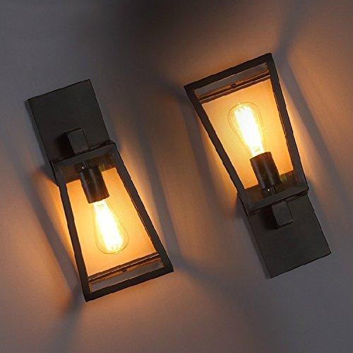 ZXL Wandlamp glas, industrieel retro loft balkon voor de decoratie bed-side restaurant lounge De slaapkamers café kantoor hal wandlampen industrie,
