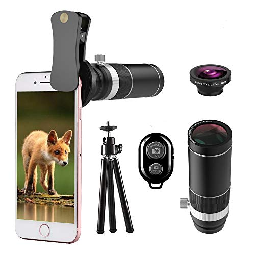 20X Telephoto Lens, Phone Camera Lens Kit, 2 in 1 Telephoto Lens + 180