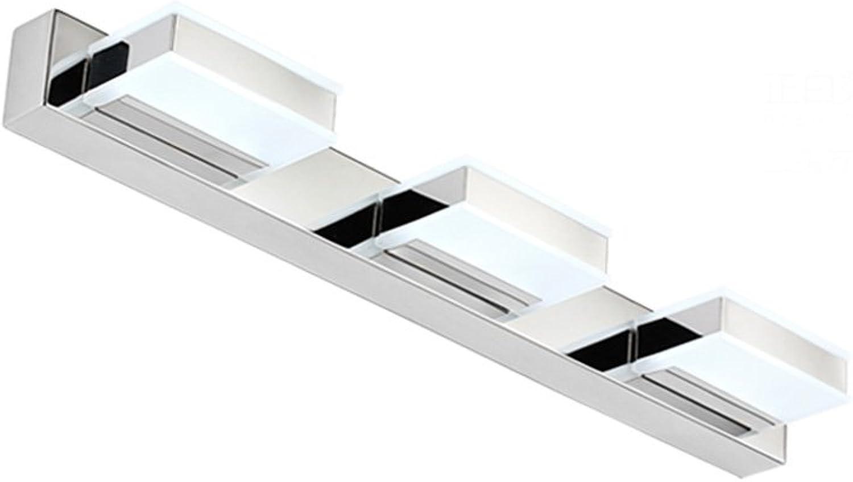 Einfache LED Acryl Maske Spiegel Frontlicht mit Edelstahl Base Schlafzimmer Make-up Lampe ( Farbe   Weies Licht-2 )