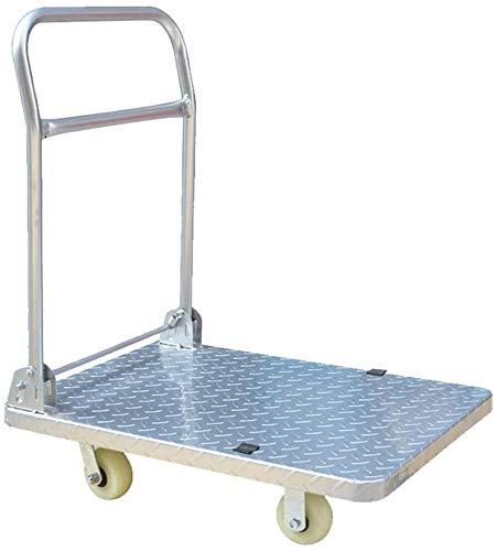 DEE Multifunktions-Einkaufswagen-Industriewagen, Plattformwagen, Stahlmaterial, Kann 400Kg Gewichts-Hand-Lkw-Speicher-Gebrauchslaufkatze Tragen,Ein