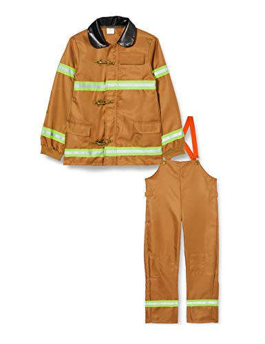 Dress Up America Disfraz Bombero para niños, Multicolor (Multi), talla 3-4 años (cintura: 66-71, altura: 91-99cm) Unisex Adulto