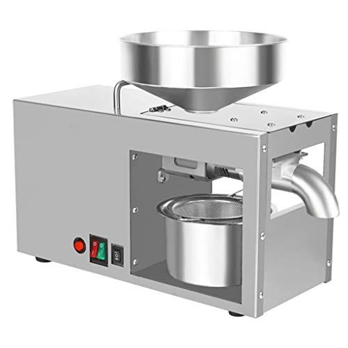 Prensa de aceite, Prensador de aceite doméstico Extractor de aceite caliente/frío, Acero...