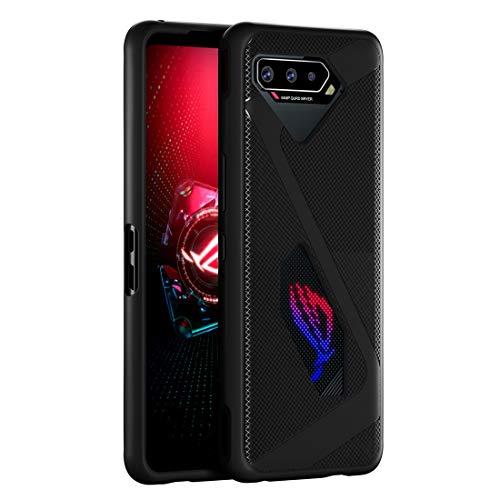 Cresee Kompatibel mit ROG Phone 5 Hülle, Hülle Handyhülle Schutzhülle Weich Cover Stoßfest Bumper für ASUS ROG Phone 5, Schwarz