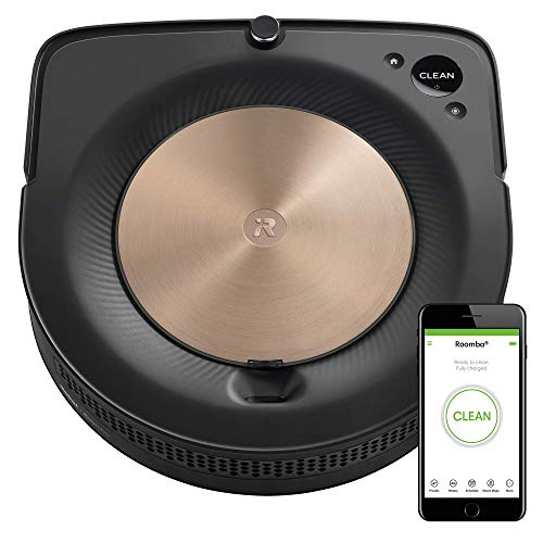 iRobot Roomba S9 (9150) Robot Vacuum- Wi-Fi Connected, Smart Mapping, Powerful Suction, Works with Alexa, Ideal for Pet Hair, Works With Clean Base (Renewed)
