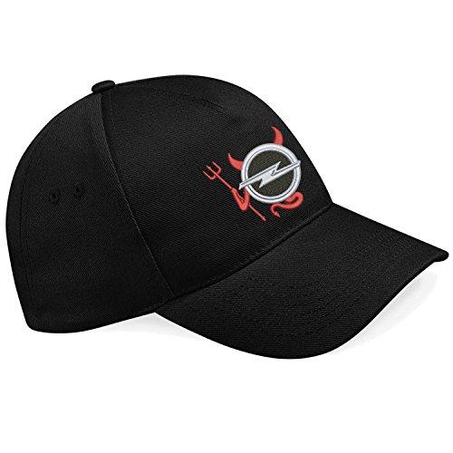 Opel - Devil Teufel Auto Fun Bestickte Logo Baseball Cap Mütze - k 065 Sw