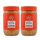 MapleFarm - Mantequilla de cacahuete 100% pura - CRUNCHY - 1 Kg (2x500g) - 100% Pure peanut butter - Crema proteica. Crema proteica sin azúcares añadidos. Sin aceite de palma.
