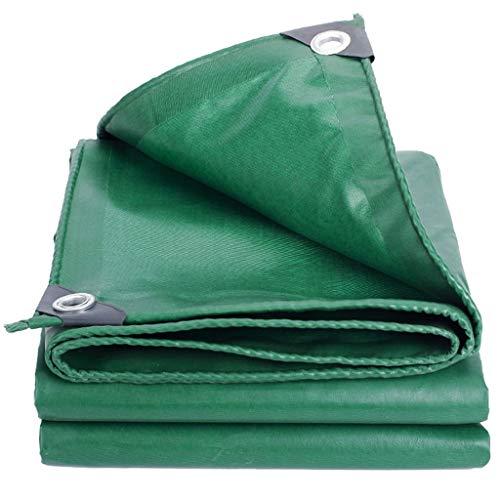 TRNCEE groen waterdicht dekzeil gewatteerde zonnebrandcrème regendicht slijtvast dekzeil vrachtwagen tuin landbouw luifel doek 4x4m (13ft x 13ft)