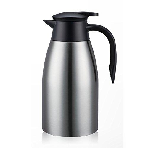 HURBHDGYDFMNV Europese Eenvoudige Vacuüm Flask Effen Kleur Roestvrij Staal Geïsoleerde Pot Vacuüm Flask, Thuis Verwarming Ketel Thermos Flask 2L Warm Water Thermos