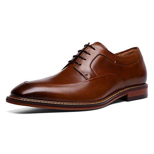Shiwu Oxford-schoenen van gepolijst leer met veters, voor heren, volledig lederen schoenen, voor bruiloftskleding, formele zakelijke schoenen.