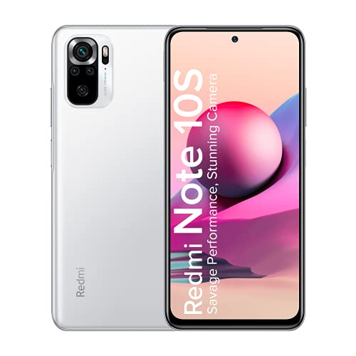 Redmi Note 10S (Frost White, 6GB RAM, 128GB) - Super Amoled Display | 64 MP Quad Camera |NCEMI Offer on HDFC Cards