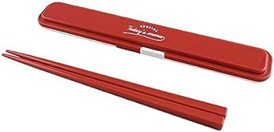 日本製 TODAYS MENU 箸 箸箱ケース レッド