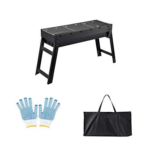 A-hyt Barbacoa de barbacoa, Hogar barbacoa al aire libre minifalda barbacoa fusain pinchos herramientas pequeña estufa al aire libre (color: STYLE2, tamaño: 60 x 25 x 40)