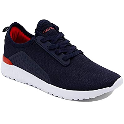 Nautica Kids Boys Sneaker Comfortable Running Shoes-Kaiden Youth-Navy Red-13