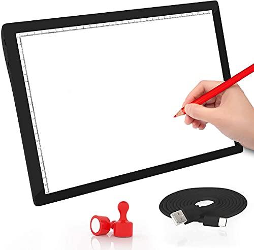 Mesa de Luz Dibujo A4, USB LED Tablet Box Tracer Para Dibujo, LED Tableta de Luz de Lluminación, Bocetos, Pintura Diamante Artcraft Tattoo Acolchado Rastreo por Número Kit