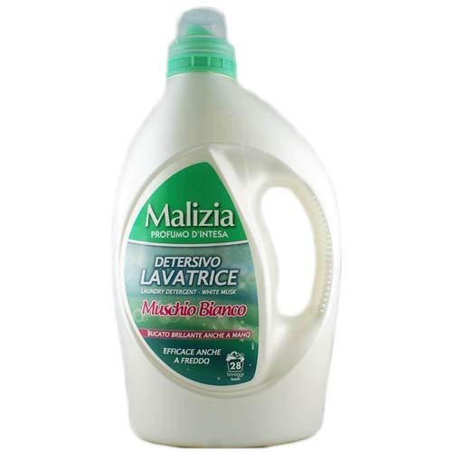 Malizia Detersivo Lavatrice Waschmittel 'Muschio Bianco', 1820 ml