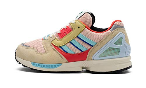 adidas Originals ZX 8000, Vapour Pink-Clear Aqua-Easy Yellow, 8,5