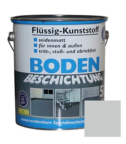 Flüssig Kunststoff 5L Bodenbeschichtung 50m² Betonfarbe Beton Beschichtung (Lichtgrau)