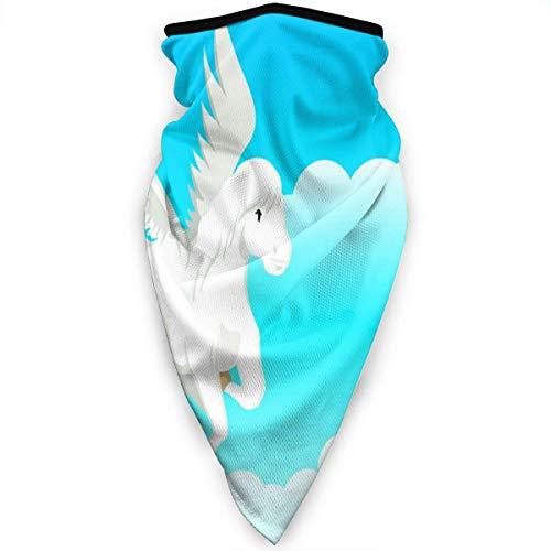 Diadema Anitdust,Bufanda Blanca del Pañuelo De Las Nubes Blancas del Cielo Azul De Pegaso, Venda Facial Única De La Decoración para Interior,24X52Cm