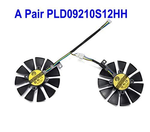 QHXCM 2pcs/Lot for 88MM PLD09210S12HH DC 12V 4Pin Cooler Fan For ASUS ROG Strix GTX1060 1070 Ti RX 470 570 580 Graphics Card Fans