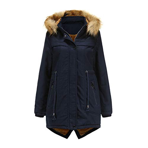 Women's Plus Size Classic-Length Quilted Parka with Hood Winter Coat