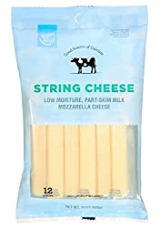 Amazon Brand - Happy Belly Mozzarella String Cheese, 12 Count, 12 Ounce Pack
