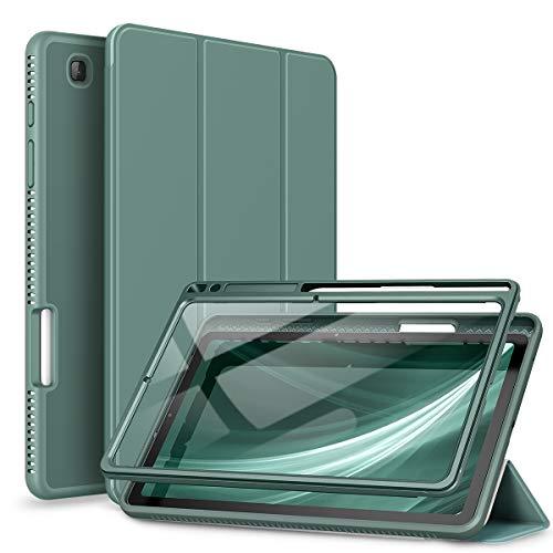 SURITCH Hülle für Samsung Galaxy Tab S6 Lite 2020 Schutzhülle mit Eingebaut Displayschutz und Pencil Halter Case mit Ständer Funktion und Auto Schlafen/Wachen für Samsung Tab S6 Lite 10,4 Zoll (Grün)