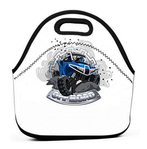 Reusable Storage Bags, Lunch Bag with Matching Sealing Clip, Leakproof off road atv buggy logo smoke dirt ant dust off road atv buggy logo smoke dirt ant dust eps layered