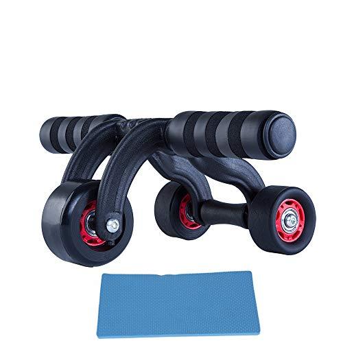 Nerioya Leises Fitnessgerät Für Bauchfunktions-Multifunktionsroller Nach Hause (DREI Räder/Vier Räder)