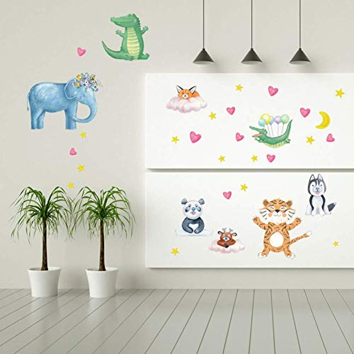GWFVA Cartoon Huisdier Muursticker Gratis Deur Sticker Kledingkast Koelkast Woonkamer Achtergrond Decoratieve Stickers
