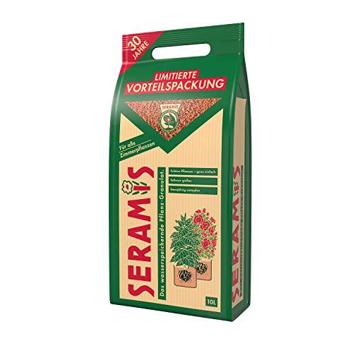 Seramis Ton-Granulat als Pflanzenerden-Ersatz für Topfpflanzen, Grün-, Blühpflanzen und Kräuter, Pflanz-Granulat, Ton-Farbe, 10 Liter