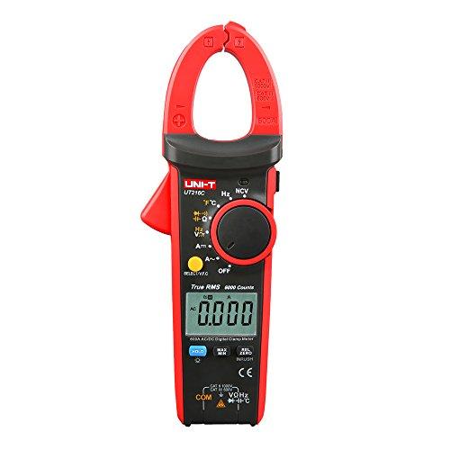UNI-T UT216C 600A Pinza Amperimétrica Digital AC DC Multímetros de Rango Automático de Corriente NCV V.F.C Diodo LCD Probador de Temperatura de Linterna