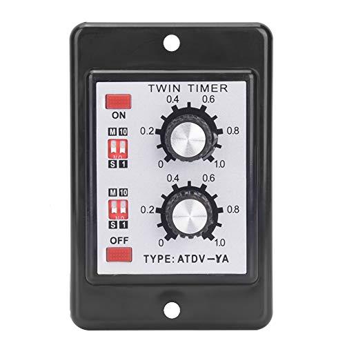 ATDV-YA AC110V / 220V 50 / 60Hz Perilla Control Tiempo Interruptor Relé Encendido Apagado Tiempo de relé Tiempo de retardo Temporizador doble