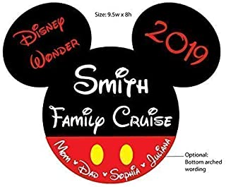Large Classic Mickey Red Shorts Family Magnet for Disney Cruise Door Decoration (optional add-on mouse heads)