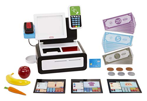 Little Tikes First Self-Checkout Stand Realistic Cash Register Pretend Play Toy for Kids