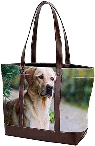SpiceRack Umweltfreundliche Tragetasche für Mutter Frauen Mädchen Damen Student Umhängetaschen Tragetasche Hundemuster Leichte Riemen Geldbörse Shopping Handtaschen